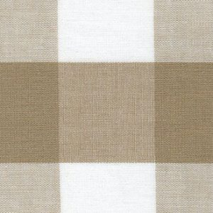 British Tan Gingham Fabric - 1″