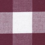 Crimson Gingham Fabric - 1″