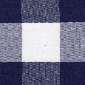 Navy Gingham Fabric: 1"