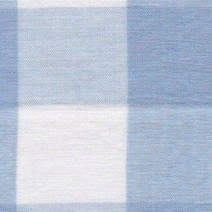 Blue Gingham Fabric: 1"