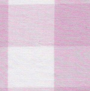 Pink Gingham Fabric - 1″