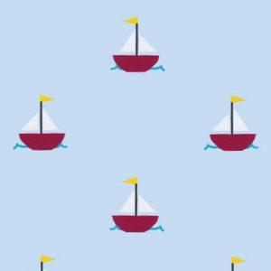 Sailboat Print Fabric