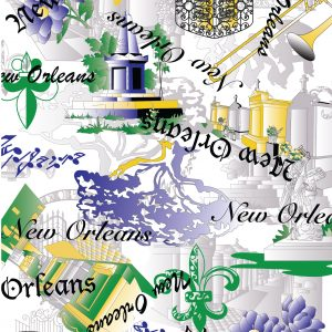 New Orleans Cemetery Fabric: 100% Cotton | Cemetery Fabric