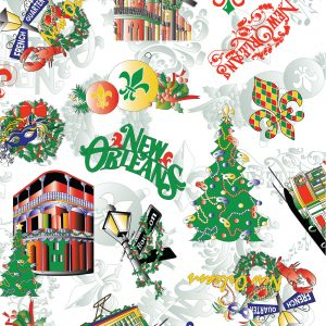 New Orleans Christmas Fabric - 100% Cotton | New Orleans Fabric