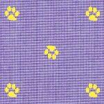 Paw Print Fabric: 100% Gingham | Paw Print Fabric Wholesale