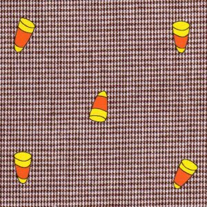 Candy Corn Fabric: 100% Cotton | Gingham Print Fabric