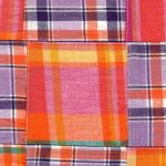 Cotton Patchwork Fabric: Purple, Orange, & Raspberry | Patchwork Fabric