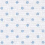 Blue Dot on White Fabric