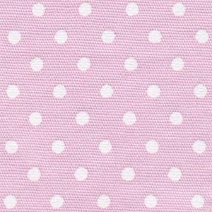 Pink and White Polka Dot Fabric | Polka Dot Cotton Fabric - 100% Cotton