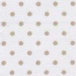 Tan and White Polka Dot Fabric | Polka Dot Cotton Fabric
