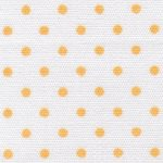 White and Gold Polka Dot Fabric | Polka Dot Cotton Fabric