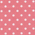Coral and White Polka Dot Fabric | Wholesale Dot Fabric - 100% Cotton