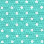 Aqua and White Polka Dot Fabric | Wholesale Dot Fabric - 100% Cotton