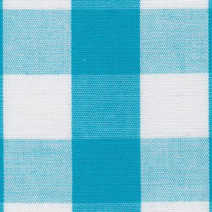 Turquoise Gingham Fabric