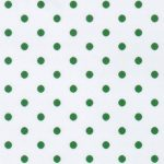 Kelly Dots on White Fabric - Print #2179