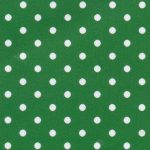 White Dots on Kelly Fabric - Print #2180