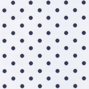 Navy Dots on White Fabric - Print #2181