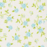 Blue and Green Floral Fabric: 100% Cotton | Floral Fabric Wholesale
