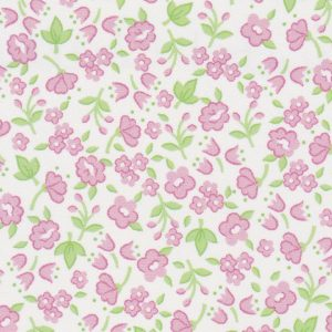 "Floral Fabric: Pink and Lime Green | 100% Cotton & 60"" Wide"