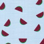 Watermelon Fabric: Blue Microcheck