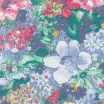 Blue and Red Floral Fabric