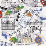New Orleans Fabric: Jackson Square - 100% Cotton | Louisiana Fabric