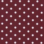 Maroon Polka Dot Fabric: White Dots on Maroon | Polka Dot Cotton Fabric
