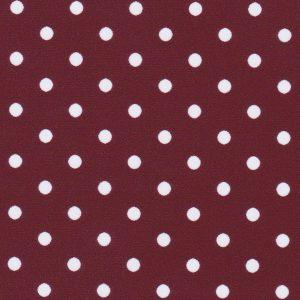 Maroon Polka Dot Fabric: White Dots on Maroon | Polka Dot Cotton Fabric