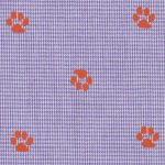 Paw Print Fabric: 100% Gingham | Gingham Print Fabric