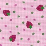 Strawberry Print Fabric: 100% Cotton | Strawberry Fabric
