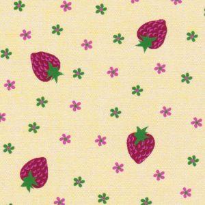 Strawberry Print Fabric: 100% Cotton | Strawberry Fabric