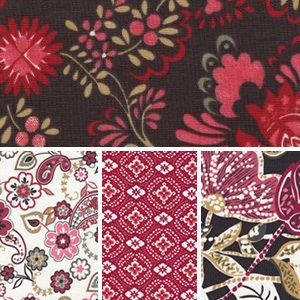 Floral Collection: Red and Brown |
