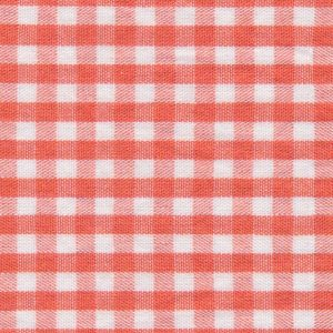 Orange Check Fabric