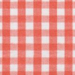 "Orange Check Fabric - 1/4"" Width 