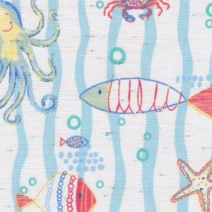 Sea Creature Print Fabric