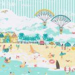 Beach Scene Fabric