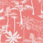 Palm Tree Print Fabric: Orange and White   Palm Print Fabric