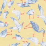 Seagull Fabric: Yellow and Blue - Print #2197 | Bird Print Fabric
