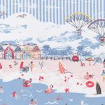 Beach Themed Fabric: Border Print: Print 2198   Ocean Themed Fabric