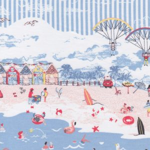 Beach Themed Fabric: Border Print: Print 2198 | Ocean Themed Fabric