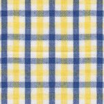 Navy Blue and Yellow Check Fabric