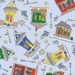 Louisiana Fabric: Creole Houses - 100% Cotton | Creole Fabric