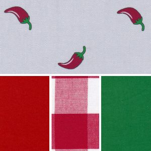 Chili Peppers Fabric Collection | Southwestern Chili Pepper Fabric