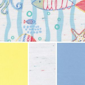 Sea Creatures Fabric Collection | Nautical Print Fabric - 100% Cotton