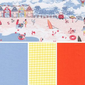 Beach Day - Blue Fabric Collection | Coastal Themed Fabric