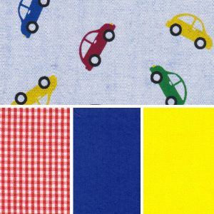 Car Print Fabric Collection: Multi Color Cars | Mini Car Fabric