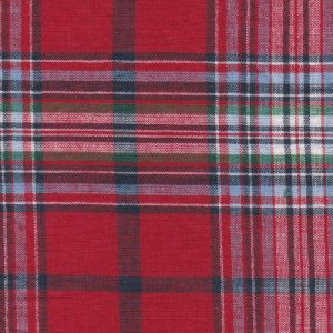 Madras Plaid Fabric - Red, Green and Blue | Madras Fabric Wholesale