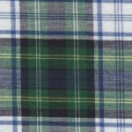 Madras Plaid Fabric - Green, Yellow and Blue | Madras Fabric Wholesale