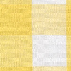 "Lemon Gingham Fabric: 1"" Check 