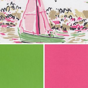 Sailboat Print Fabric - #2199 Collection | Nautical Fabric